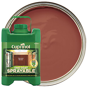 Cuprinol One Coat Sprayable - Harvest Brown 5L