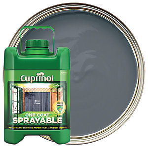 Cuprinol One Coat Sprayable - Silver Copse 5L