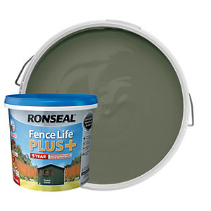 Ronseal Fence Life Plus Matt Shed & Fence Treatment - Forest Green 5L