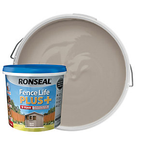 Ronseal Fence Life Plus Matt Shed & Fence Treatment - Warm Stone 5L