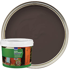 Wickes Shed & Fence Timbercare - Chestnut Brown 5L
