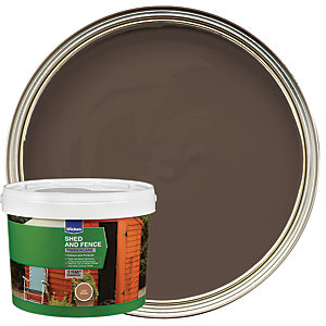 Wickes Shed & Fence Timbercare - Light Brown 5L