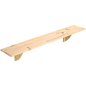 Wickes Pine Shelf Kit - 16 x 190 x 1185mm