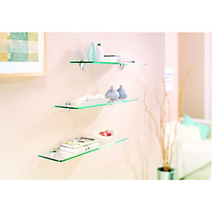 Wickes Shelf Glass - 8 x 150 x 600mm
