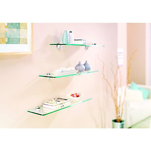 Wickes Shelf Glass - 8 x 200 x 600mm