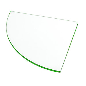 Wickes Shelf Glass Corner - 300mm