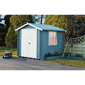 Shire 10 x 10 ft Bradley Double Door Log Cabin