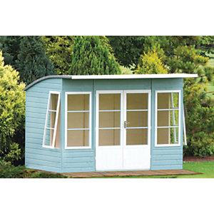 Shire 10 x 6 ft Orchid Curved Roof Double Door Summerhouse