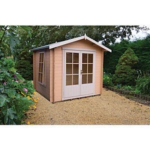 Shire Barnsdale Double Door Log Cabin - 7 x 7 ft