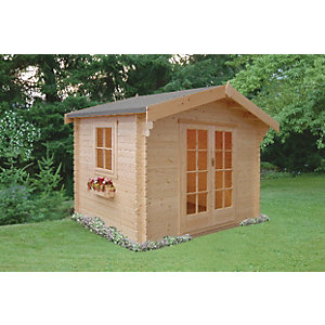 Shire Dalby Traditional Double Door Log Cabin - 8 x 10 ft
