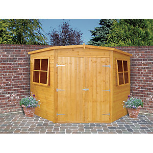 Shire Double Door Timber Corner Shed - 7 x 7 ft