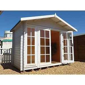 Shire Epping Double Door Log Cabin - 10 x 10 ft