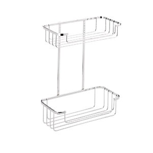 Croydex Rust Free Two Tier Cosmetic Shower Basket - Chrome 215mm
