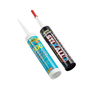 Everbuild Adhesive & Silicone Pack
