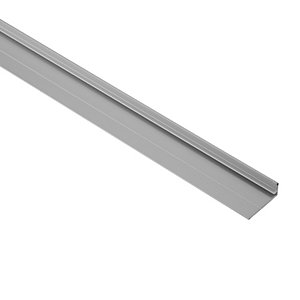 Wickes Bottom Profile - Aluminium 2.4m