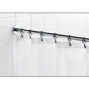 Croydex Luxury Round Shower Curtain Rail