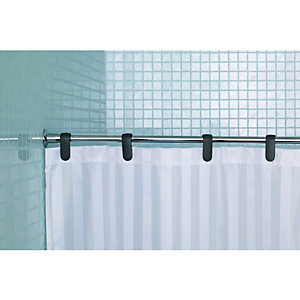 Wickes Fine Line Chrome Shower Curtain Rail
