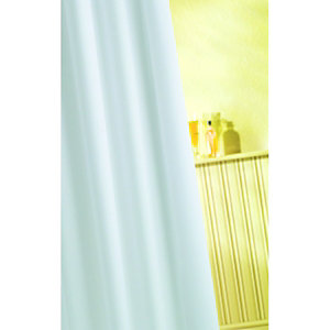 Wickes Textile Shower Curtain - White