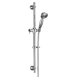 Bristan Traditional Round Shower Head Riser Rail Kit - Chrome