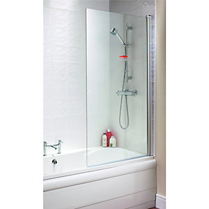 Wickes Half Frame Straight Bath/Shower Screen