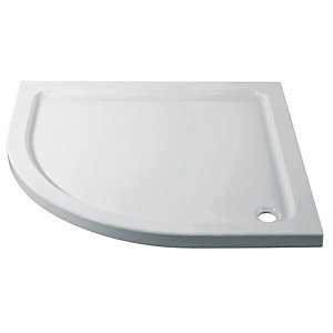 Wickes 760mm Cast Stone Quadrant Shower Tray - 45mm