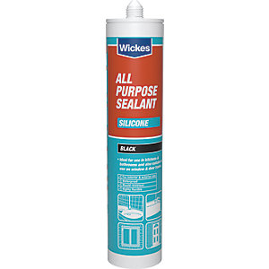 Wickes All Purpose Silicone Sealant - Black 310ml
