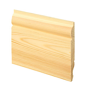 Wickes Dual Purpose Torus/Ogee Pine Skirting - 15mm x 119mm x 3.6m Pack of 4