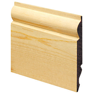 Wickes Dual Purpose Torus/Ogee Pine Skirting - 19mm x 145mm x 3.6m Pack of 2 Hd