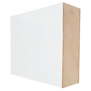 Wickes Square Edge Primed MDF Skirting - 18mm x 119mm x 2.4m Pack of 4