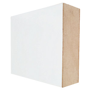Wickes Square Edge Primed MDF Skirting or Architrave - 18mm x 69mm x 2.4m Pack of 5