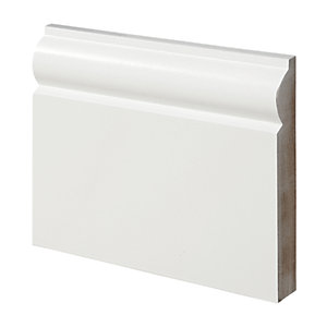 Wickes Torus Fully Finished MDF Skirting - 18mm x 119mm x 2.4m Pack of 4