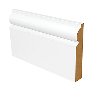 Wickes Torus Fully Finished MDF Skirting - 18mm x 119mm x 3.6m Pack of 2