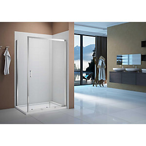 Nexa By Merlyn 8mm Chrome Framed Sliding Shower Door Only - 1100mm