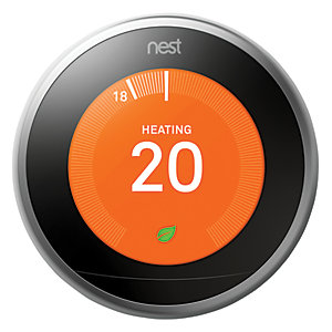 Google Nest Learning Smart 3rd Generation Stainless Steel Thermostat