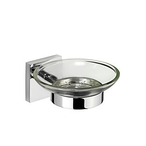 Croydex Chester Flexi-Fix Soap Dish - Chrome Effect