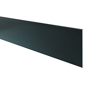 Wickes PVCu Black Soffit Reveal Liner 200 x 2500mm