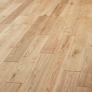Style Country Light Oak Solid Wood Click Fit Flooring - 1.44m2 Pack