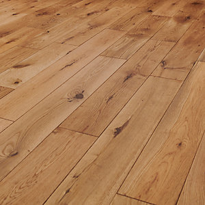Style Garden Light Oak Solid Wood Flooring - 1.5m2 Pack
