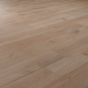 Style Smoky Grey Oak Solid Wood Flooring - 1.5m2 Pack