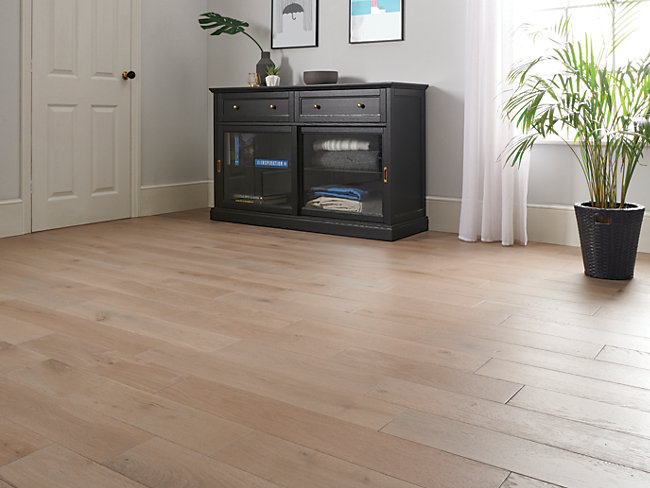 Smoky Grey Oak Solid Wood