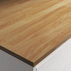 Engineered Oak Worktop with Natural Hard Wax Oil - 610mm x 22mm x 3m