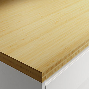 Wickes Solid Wood Worktop - Bamboo 600 x 38mm x 2.45m