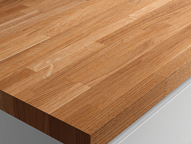 Solid Wood Worktop Solid Oak 3m
