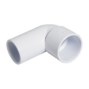 FloPlast WS26W Solvent Weld Waste 90 Deg Bend Conversion - White 32mm