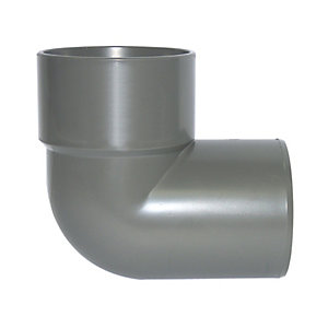FloPlast WS27G Solvent Weld Waste 90 Deg Bend Conversion - Grey 40mm