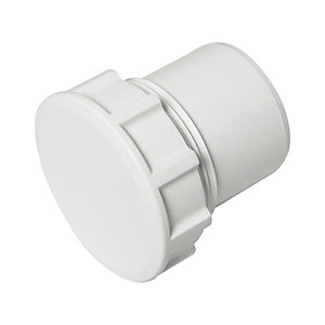 FloPlast  WS32W Solvent Weld Waste Access Cap - White 50mm