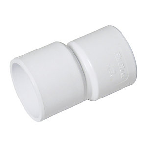 FloPlast WS50W Solvent Weld Waste Level Invert Reducer - White 40mm x 32mm