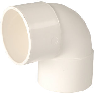 Wickes Solvent 90 Degree Bend - 40mm Pack of 5