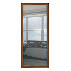 Spacepro Shaker 1 Panel Walnut Frame Mirror Door