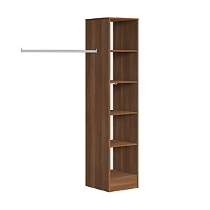 Spacepro Wardrobe Storage Kit  Tower Unit - Walnut